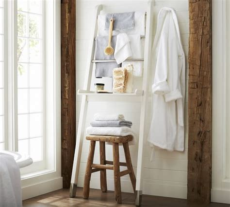 over the toilet ladder napa ladder storage pottery barn