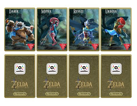 amiibo card template amiibo cards botw chions by damdam51 on deviantart