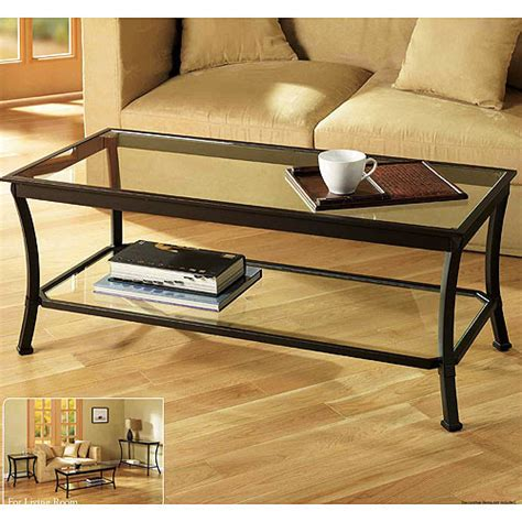 Walmart Coffee Table Mendocino Coffee Table Metal Glass Walmart