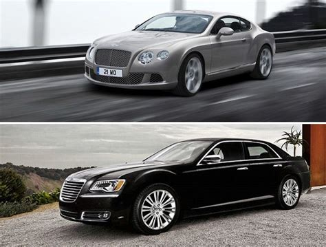 bentley chrysler 300 bentley continental gt vs chrysler 300 rides pinterest