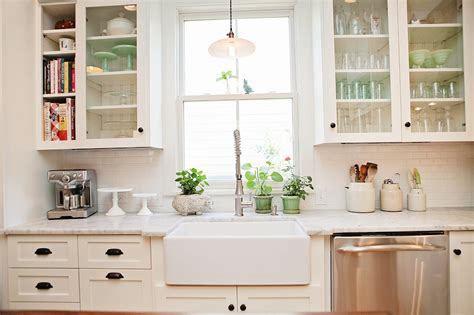 Farmhouse Cabinets For Kitchen | kitchen pretty design ideas of white kitchen with white