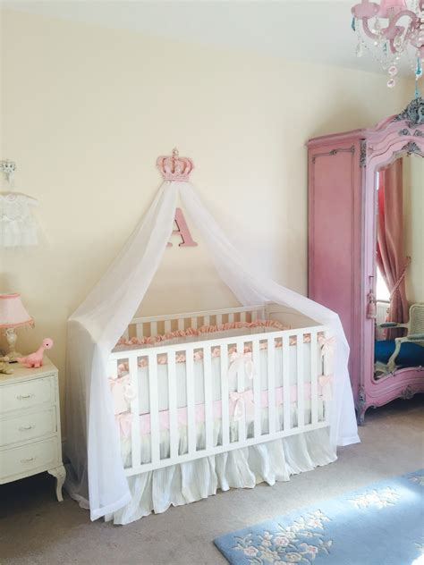 Cot Bed Canopy Pink Nursery Cot Canopy White Bed Princess Crown Idea Pinterest Cots Nursery And Babies
