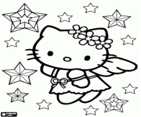angel kitty coloring pages hellokitty christmas angel coloring page printable game