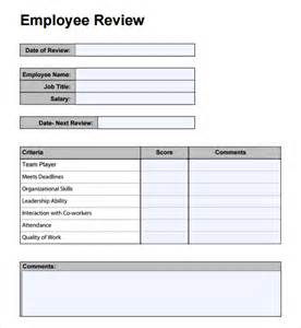 employee review form template free best photos of employee performance review template