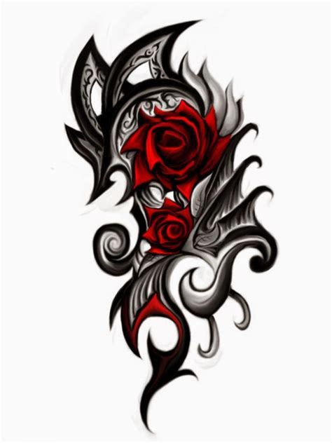 tribal black rose tattoo in gallery tribal tattoos designs