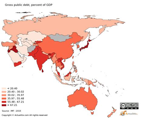 asia oceania map asia and oceania map debt of 2016
