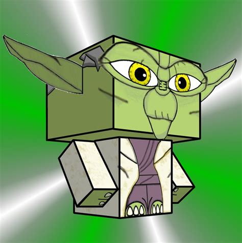 Yoda Papercraft - yoda cubee by pankismo on deviantart