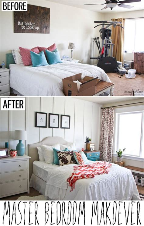 before and after bedroom makeover pictures master bedroom makeover honeybear