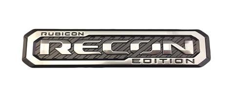 jeep wrangler rubicon logo jeep wrangler rubicon recon badge 68299027aa