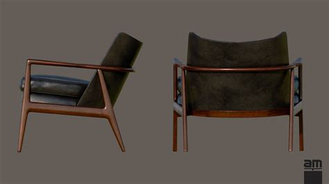 milo baughman thayer coggin armchair 3d model max obj fbx