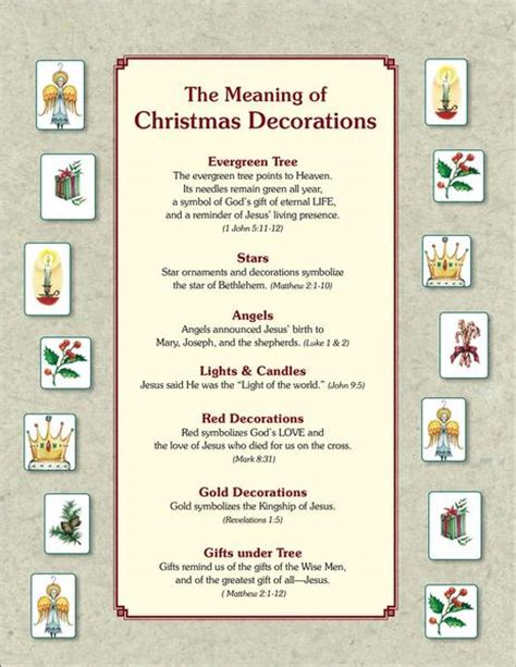 christian meaning of christmas decorations the meaning of tree ornaments pdf seed faith books