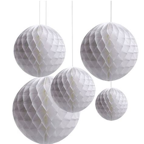 How To Make Paper Hanging Balls - wholesale 50pcs honeycomb puff wedding decor set
