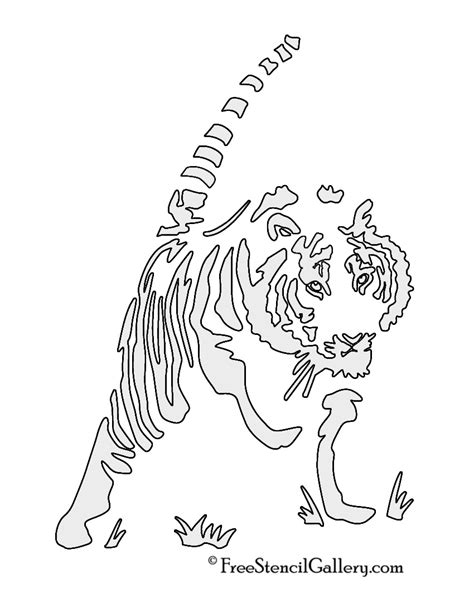 tiger template printable 6 best images of tiger stencils printable printable