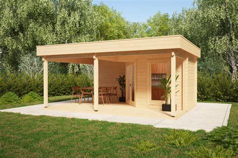 Gartenlaube Mit Terrasse by Gartenhaus Mit Gro 223 Er Terrasse Und Vordach Remo 3 6m2