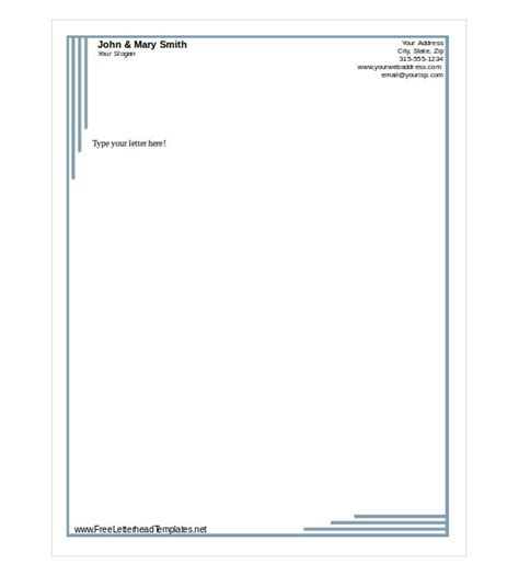 Free Downloadable Letterhead Templates free letterhead template 14 free word pdf format