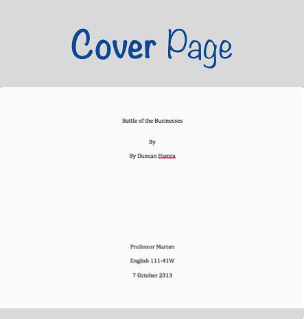 mla title page template research paper cover page template