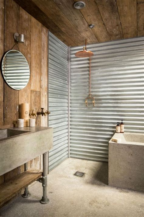 corrugated metal bathroom walls the 25 best ideas about corrugated tin on pinterest