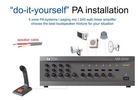 Mixer Lifier Toa Za 2240 240 Watt 1 toa 5 zone pa installation