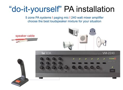 Toa Mixer Lifier Vm 2240 Toa 5 Zone Pa Installation