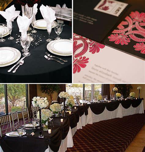 wedding inspiration center 2012 elegant black and white