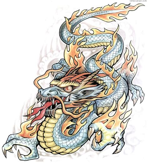 dragon with fire tattoo designs on design tattoology free