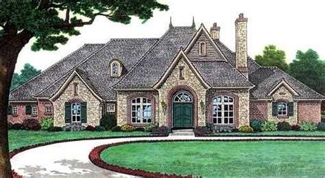 french country european house plans bungalow european french country traditional house plan 66115