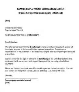 verification of employment letter 12 free word pdf