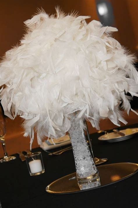 Feather Vases Weddings by Sale White Malibu Feather Centerpieces Balls Vases And Bouquets Wedding Black Blue