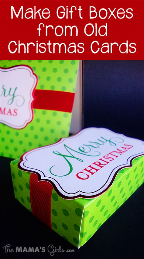 Where Can I Get Gift Cards Made For My Business - make gift boxes from old christmas cards