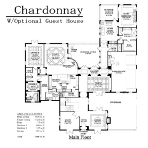 house plans with attached guest house adobe homes florida the chardonnay adobe homes florida