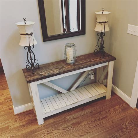 rustic sofa table entry table rustic home decor etsy