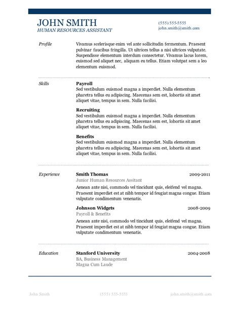 Free Resume Template by 7 Free Resume Templates Primer