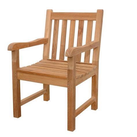 Anderson Teak Classic Teak Patio Dining Arm Chair