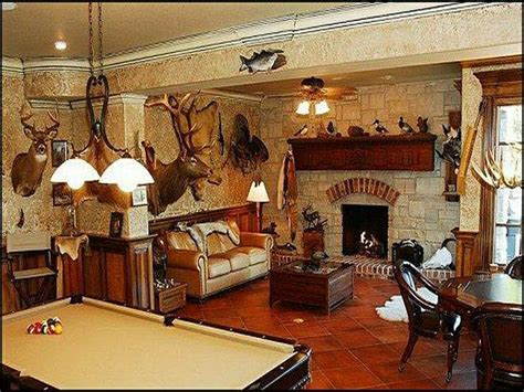 hunting decorations for home fun rooms hunting theme man cave hometalk remodels