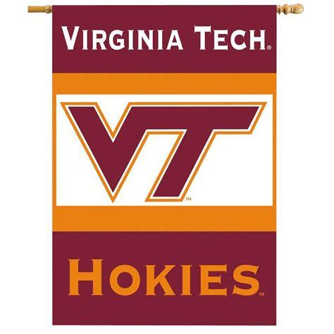 bsi products ncaa 28 in x 40 in virginia tech 2 sided banner with pole sleeve 96011 the home
