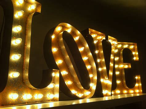 Vintage Marquee Lights Ready To Ship Love Marquee Lights