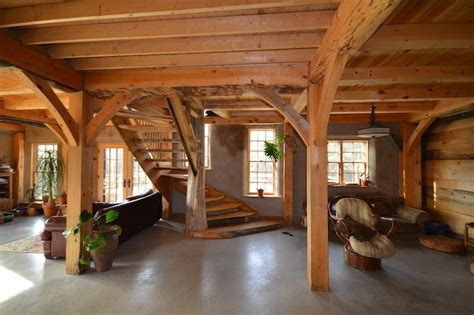 pole barn house interior studio design gallery