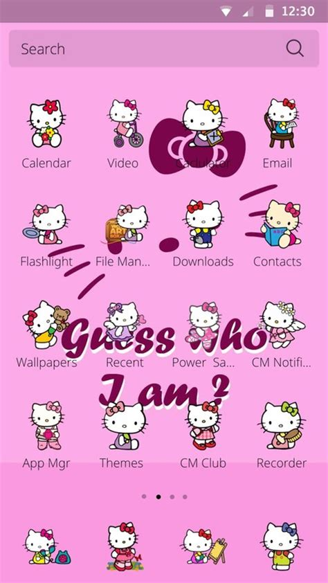 theme line android hello kitty hello kitty theme free android theme download appraw