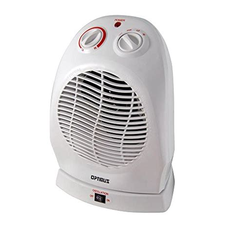 kenmore oscillating compact fan heater optimus h 1382 portable 2 speed oscillating fan heater