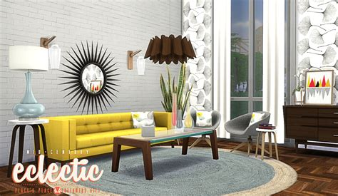 Dining Room Furniture Sets mid century eclectic objects by peacemaker ic teh sims