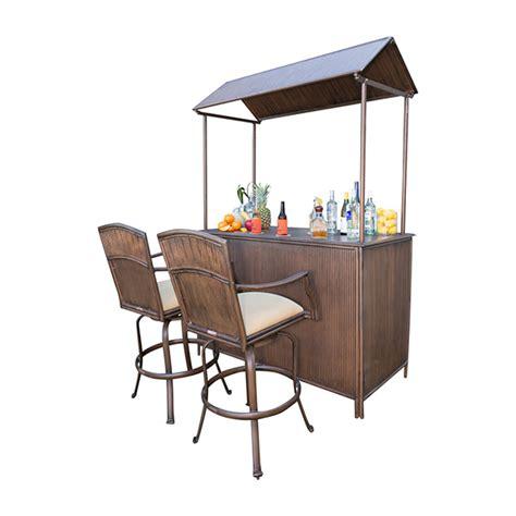 tiki bar 3 pc barstool set by panama jack family leisure
