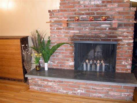 hearth ideas how to build a concrete fireplace hearth hgtv
