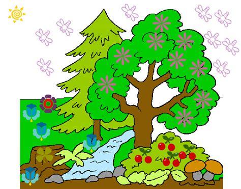 imagenes faciles para dibujar de la naturaleza dibujo de la naturaleza pintado por karenmelis en dibujos