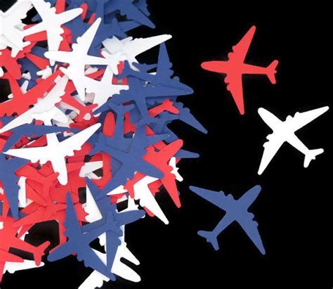 Airplane Decorations by Patriotic Decorations Airplane Confetti By Partyparts
