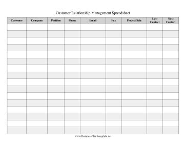 Crm Spreadsheet Crm Spreadsheet Template
