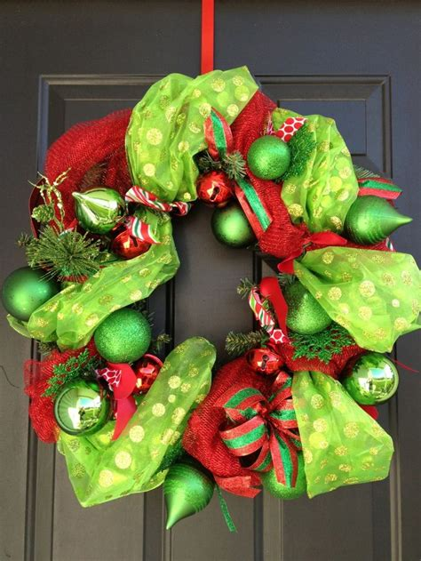 wreath diy diy mesh garland christmas wreath wreaths pinterest