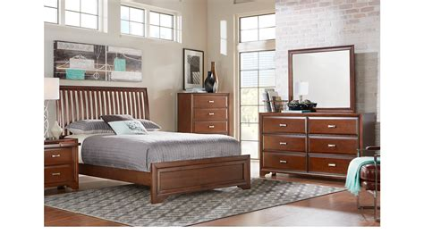 7 Pc Bedroom Set by Belcourt Cherry 7 Pc Slat Bedroom Contemporary