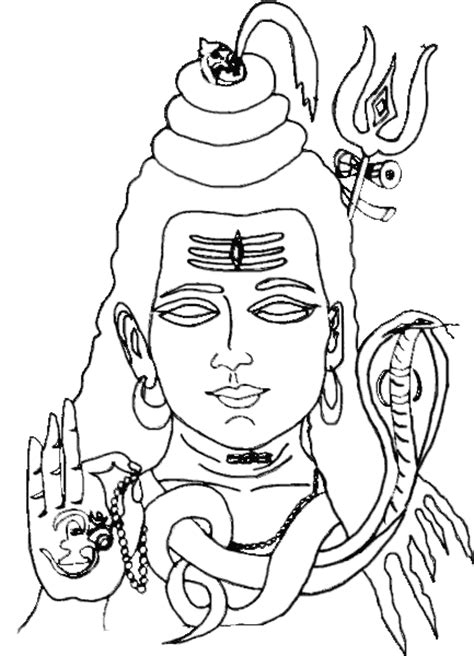 lord shiva outline
