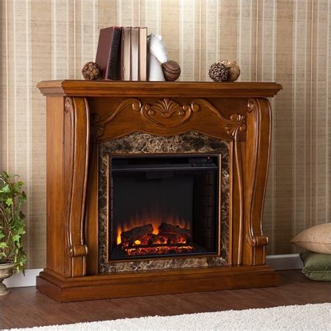 Southern Enterprises Electric Fireplace by Southern Enterprises Cardona Electric Fireplace In Walnut