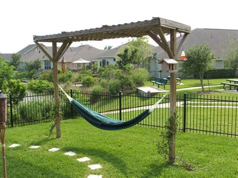 backyard hammock stand deepnot green outdoor eno hammock stand designs for backyard deck pergola